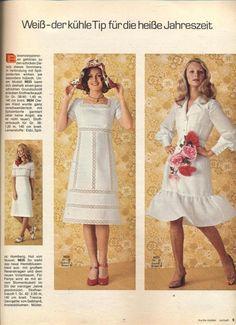 1971 Lace Insert White Dress