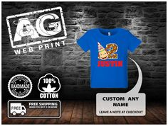 Curioso George Birthday camisa por AGWebPrint en Etsy