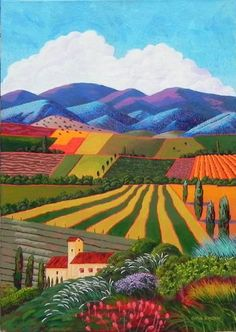 Gene Brown Vineyards Of Provence - Southwest Gallery: Not Just Southwest Art.