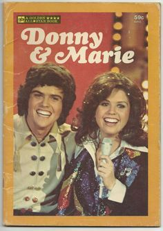 Marie Osmond 1974 | HAVE!! DONNY & MARIE OSMOND VINTAGE 1977 GOLDEN ALL STAR STORY BOOK