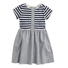 J.Crew - Girls' stripe oxford henley dress