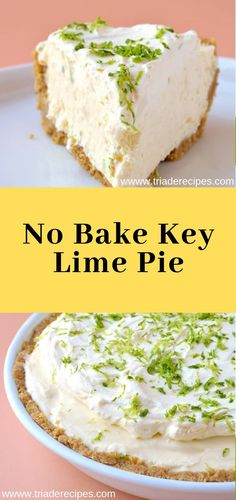 When your pantry is running low, turn to this list of quick, easy desserts. These simple dessert recipes. You won't believe how easy to make. Lime Desserts, Cold Desserts, Homemade Desserts, Easy Desserts, Dessert Recipes, Chocolate Chip Cookie Cheesecake, Key Lime Cheesecake, Key Lime Pie, Easy Banana Pudding