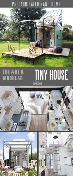 If simple living means living happier youll find it in this POD-Idladla a compact customizable prefab home for two that can move almost anywhere you wish. The minimal and charming mobile pod ships flat anywhere in the world. Small Tiny House, Modern Tiny House, Tiny House Living, Tiny House Design, A Frame House Plans, Tiny House On Wheels, Small House Plans, Lofts, Casa Loft