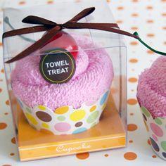 towel treat cupcake! #spaparty