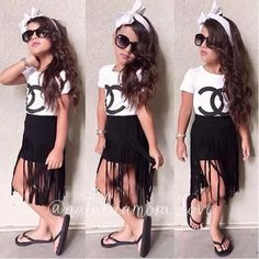 Find images and videos about love, fashion and cute on We Heart It - the app to get lost in what you love. Little Girl Outfits, Cute Outfits For Kids, Little Girl Fashion, Cute Little Girls, Toddler Girl Style, Toddler Fashion, Teen Fashion, Stylish Kids, Girls Dresses