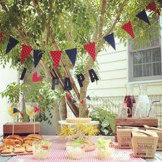 お庭パーティーで父の日を祝う☆ |埼玉・東京 キッズパーティープランナー Twinkle Styleのブログ