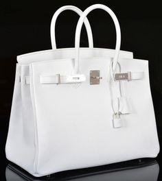 Emmy DE * Hermès Birkin Bag 35cm White Epsom Palladium Hardware