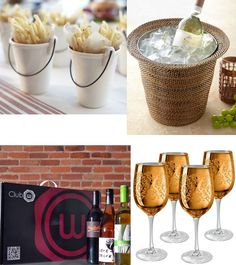Staying in with friends means food an beverage check out what we're loving from stemware, containers and of course Club W!