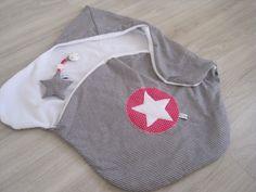 Babydecken - Einschlagdecke / Puckdecke incl passendem Anhänger - ein Designerstück von allesausliebe bei DaWanda