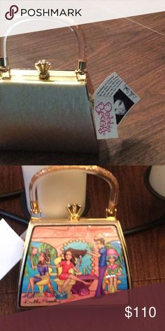 """Debbie brooks petite """"fab day spa"""" bag Artist creation, new with original tags, has extra gold chain debbie brooks Bags Mini Bags"""
