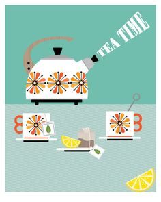 CbyC Studio Original - Tea Time - Limited Edition Print
