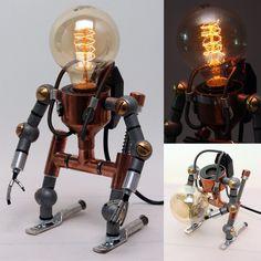 Desk Light Lamps Home Decor Ligthing Table Lamp Handmade Faucet Robot Light #602CreativeLab