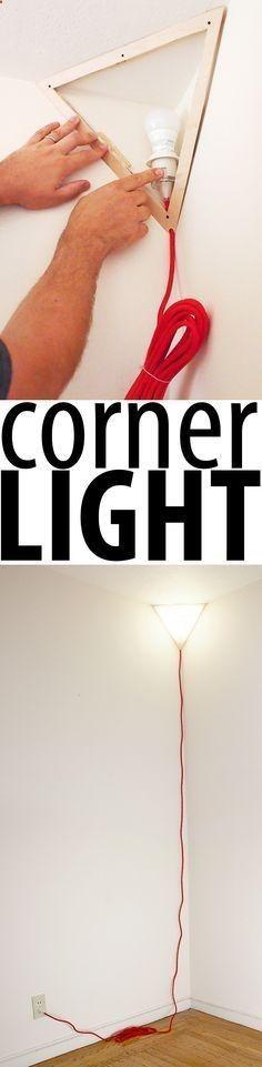 Plans of Woodworking Diy Projects - Géniale cette lampe de coin Get A Lifetime Of Project Ideas & Inspiration!