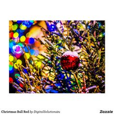 Christmas Ball Red Postcard
