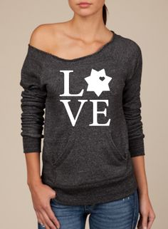 Looooove this sweatshirt! Law Enforcement Sheriff/Deputy 7 point Love LEO Slouchy Sweater from Southern Charm