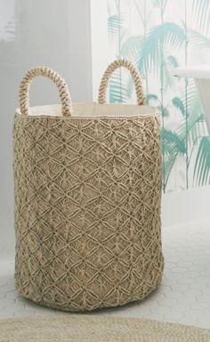 Elisium - Macrame Basket Large - Reef Knot, $150.00 (http://www.elisium.com.au/macrame-basket-large-reef-knot/)