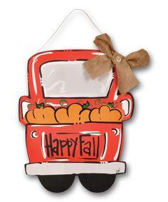 Another great find on 'Happy Fall' Truck Door Hanger by Magnolia Lane Burlap Door Hangers, Fall Door Hangers, Wooden Hangers, Wooden Door Signs, Wooden Doors, Halloween Door Hangers, Wooden Cutouts, Cute Paintings, Craft Show Ideas