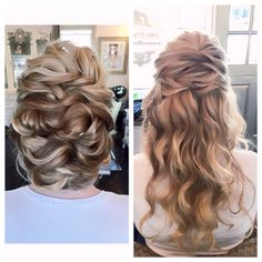 Ceremony to Reception Look Hair by Dee @swellbeauty