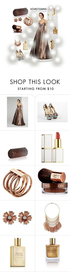 """""""A homecoming Queen of Peace"""" by felicitysparks ❤ liked on Polyvore featuring Fame & Partners, Charlotte Olympia, Jimmy Choo, Tom Ford, Michael Kors, Vita Liberata, Miss Selfridge, Estée Lauder, Isadora and STELLA McCARTNEY"""