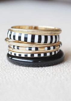 Cape Cod Travels Bangle Set from Ruche Other Accessories, Jewelry Accessories, Fashion Accessories, Jewelry Design, Jewelry Box, Jewelry Watches, Vintage Jewelry, Jewelry Ideas, Bangle Set