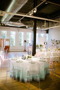 dip-dyed wedding, photo by Our Love is Loud http://ruffledblog.com/notwedding-denver #weddingideas #reception #tables