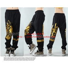 Fashion hiphop hip hop hypertensiveperson pants hiphop jeans modern... ❤ liked on Polyvore
