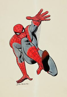 A great many talented artists have drawn Spider-Man over the years, but John Romita (Sr.) is bar none the definitive Spider-Man artist.  This pinup is a superb example of why.