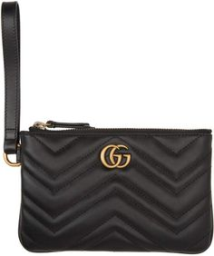 Gucci Black GG Marmont Wallet Gg Marmont, Best Purses, Gucci Black, Wallet, Womens Fashion, Bags, Outfit, Summer, Handbags