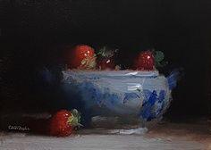 "Daily Paintworks - ""Tureen Bowl of Strawberries"" - Original Fine Art for Sale - © Neil Carroll Still Life Images, Still Life Art, Paintings I Love, Oil Paintings, Still Life Oil Painting, Sketch Painting, Art Techniques, Art World, Illustration Art"