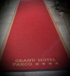 Passatoia personalizzata in cocco sintetico grand hotel parco **** a roma