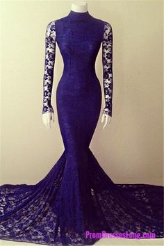 Mermaid Prom Gown,Royal Blue Evening Gowns,Party Dresses,Mermaid Evening Gowns,Sexy Formal Dress For Teens MT20180111