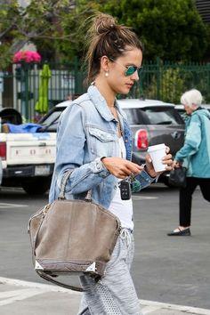shop Alessandra's exact Alexander Wang bag!