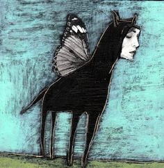 Winged Things - drawings..charlotte foust