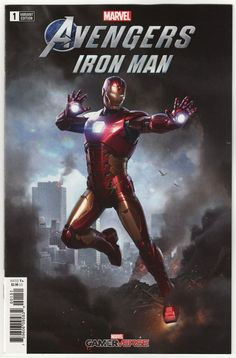 Marvels Avengers Iron-Man Comic Issue 1 Game Verse Variant First Print 2019 Iron Man Avengers, The Avengers, Marvel Avengers Games, Marvel Comic Books, Avengers Cartoon, Ms Marvel, Marvel Art, Marvel Dc Comics, Marvel Heroes