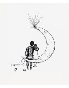 Novios en la luna