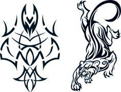 992812ac3d067 Tribal & Tiger Glow In The Dark Tattoos #t4aw #tribaltiger  #glowinthedark #