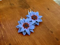 Polymer Clay Jewelry Flowers Dangle Earrings by OlivesHands