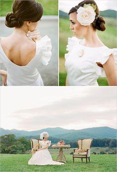 vintage wedding ideas our-wedding-plans Wedding Bells, Fall Wedding, Our Wedding, Dream Wedding, Vintage Inspired Wedding Dresses, Classic Wedding Dress, Wedding Trends, Wedding Styles, Wedding Guest Book