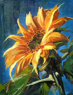 jpg × - paint and art Sunflower Canvas Paintings, Watercolor Sunflower, Sunflower Art, Watercolor Flowers, Watercolor Paintings, Canvas Art, Paintings Of Sunflowers, Red Sunflowers, Arte Van Gogh