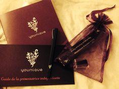 Goodies et cadeaux à la conférence de lancement younique en France, au Paris Mariott des Champ Elysées <3
