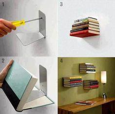 Estante Invisible Para Libros Biblioteca Invisibooks Mensula - $ 84,95