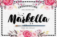 Markella Brush Script #fonts #typefaces #fontbundle #typography #scriptfont #marchbundle