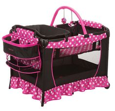 #baby toddler kids play yard pen basinet #disney cartoon toy tv show minnie mouse from $157.99