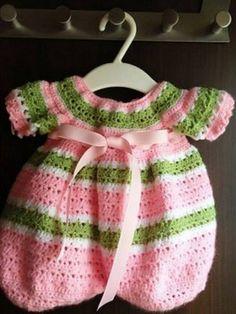 Lollipop Crochet Romper Free Pattern                                                                                                                                                                                 More