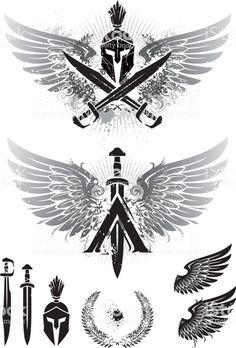 alpha and omega symbols Surf Tattoos, Eagle Tattoos, Maori Tattoos, New Tattoos, Body Art Tattoos, Tattoos For Guys, Sleeve Tattoos, Cool Tattoos, Tatoos