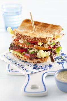 Hollandse bief clubsandwich