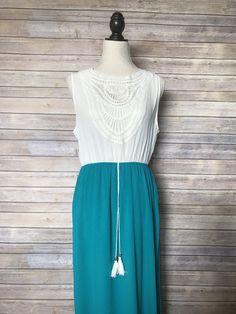 Deep Blue Sea Maxi Dress