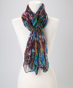 Colorful Leopard Scarf