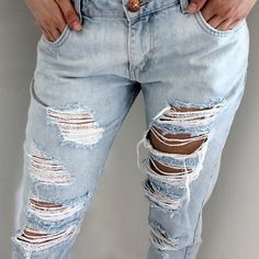 Gorgeous ripped jeans from tbdress.