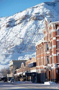 Downtown Durango, CO with Smelter Mtn. in the background.